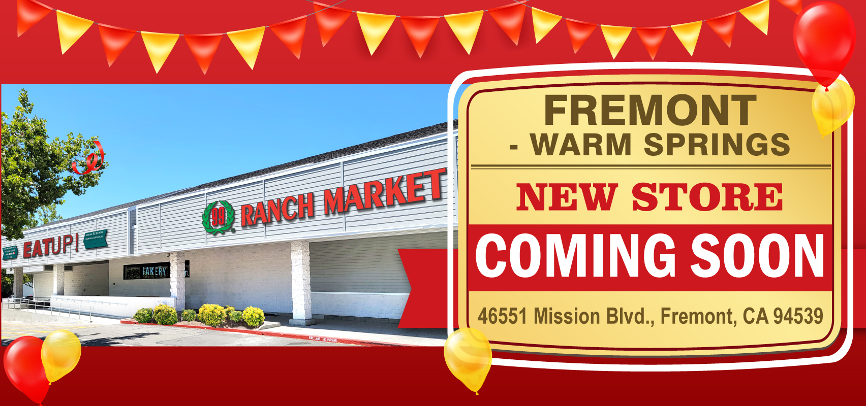 99 Ranch Market is coming soon to the Warm Springs Plaza in Fremont, CA