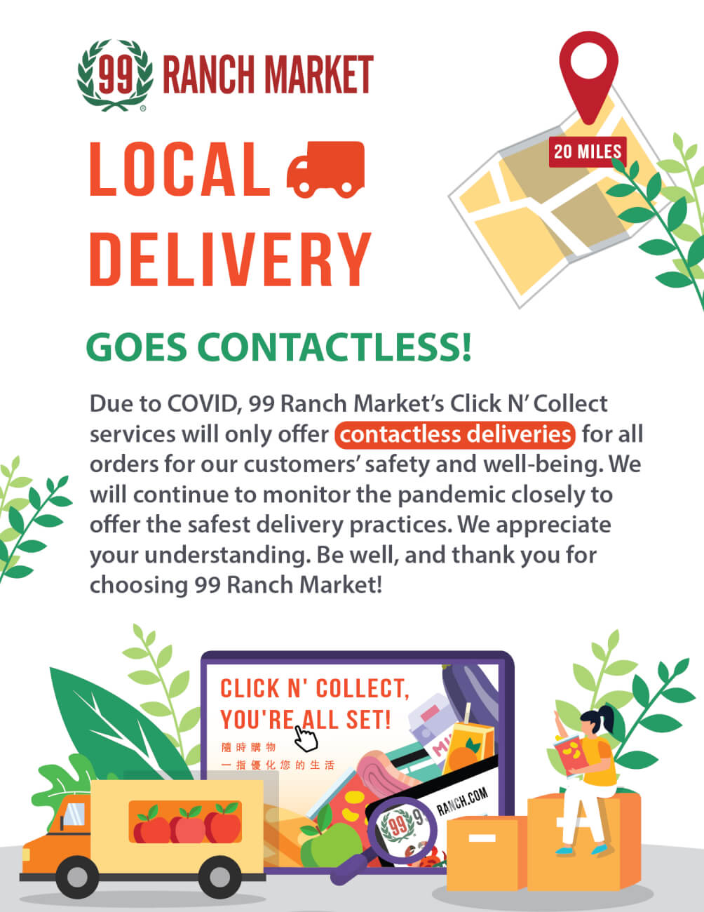 Click and Collect Delviery Options
